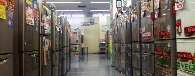 お店に並ぶ冷蔵庫
