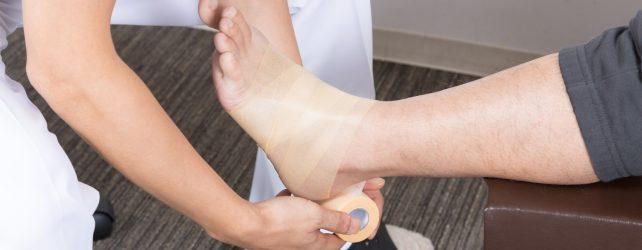 足を怪我する